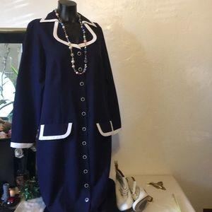 Roaman's Navy and white Sailors Dress